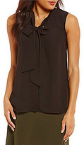 Alex Marie Fiona Sleeveless Tie-Neck Blouse