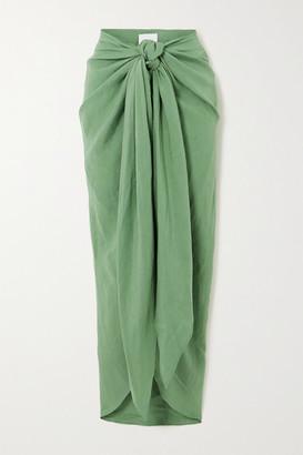 BONDI BORN Net Sustain X Lg Electronics Tie-front Linen Midi Skirt