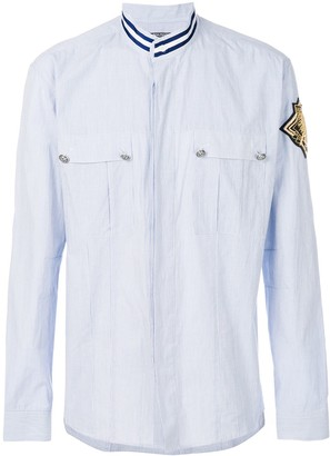 Balmain patch shield shirt