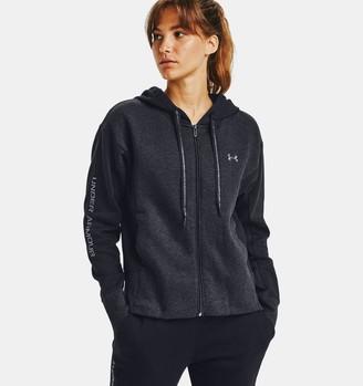 Under Armour Women's UA Rival Fleece Embroidered Full Zip Hoodie