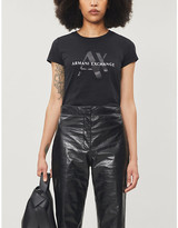 Armani Exchange Logo print cotton-jersey T-shirt