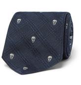 Alexander McQueen 6cm Silk-jacquard Tie - Navy