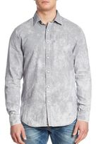 G Star Landoh Oxford Printed Slim-Fit Shirt