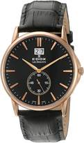 Edox Men's 64012 37R NIR Les Bemonts Analog Display Swiss Quartz Watch