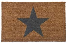 No. 3 - Large Single Star Coir Doormat - Large - Brown/Black