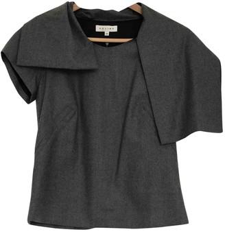 Celine Grey Wool Top for Women