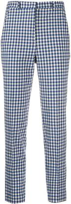 Incotex check print trousers