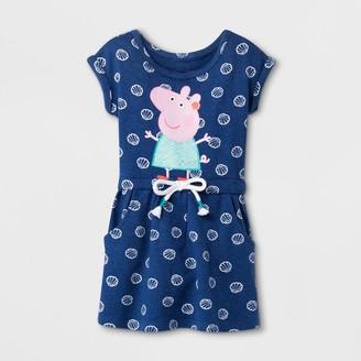 Peppa Pig Toddler Girls' Short Sleeve Drawstring Dress - 3T