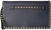 Valentino Icon) Rockstud Clutch 1 (Women) - Navy - One Size