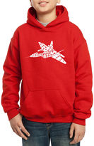 LOS ANGELES POP ART Los Angeles Pop Art Fighter Jet Using Words Need For Speed Hoodie-Big Kid Boys