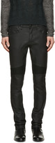 Belstaff Black Coated Eastham Biker Jeans