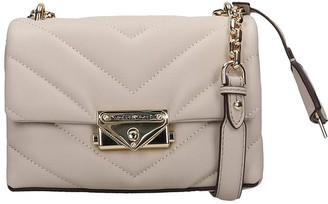 Michael Kors Shoulder Bag In Beige Leather