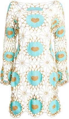 My Beachy Side Cinel Crocheted Mini Dress