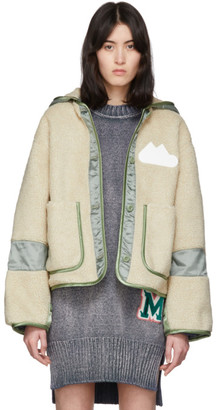 MM6 MAISON MARGIELA Beige and Khaki Sherpa Fleece Jacket
