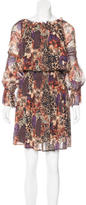 Rachel Zoe Mixed Print Silk Dress