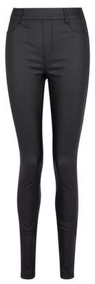 Dorothy Perkins Womens **Tall Black Coated 'Eden' Lightweight Jeggings, Black