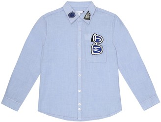 Little Marc Jacobs AppliquAd cotton shirt