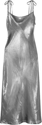 Georgia Alice Hils Metallic Silk-blend Dress