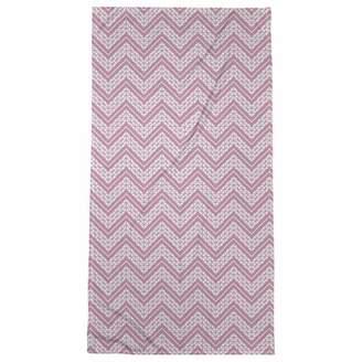 ArtVerse Rhonda Cheval Classic Hand Drawn Chevron Pattern Bath Towel - Poly/Cotton