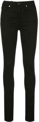 Veronica Beard Side Slit Skinny Jeans