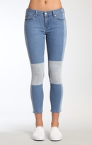 Mavi Jeans Adriana Ankle Super Skinny In Indigo Blocking Ico