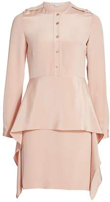 Stella McCartney Silk Tiered Skirt Shirtdress