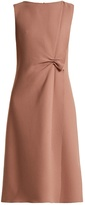 Bottega Veneta Sleeveless asymmetric wool-crepe dress
