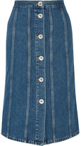 MiH Jeans Simone Denim Skirt - Mid denim