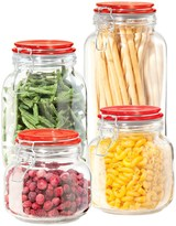 Oggi Glass Clamp Canister Set - 4-Piece