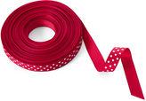 One Kings Lane 5/8 Grosgrain Dots Ribbon, Red/White