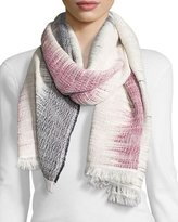 Rag & Bone Woven Cotton Ombre Scarf, Navy