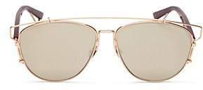 Christian Dior Women's Technologic Aviator Mirror Sunglasses, 57mm