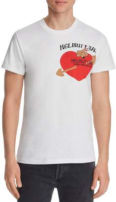 Helmut Lang Standard Embroidered Graphic Tee