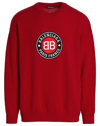 Balenciaga Logo Graphic Crew Sweater