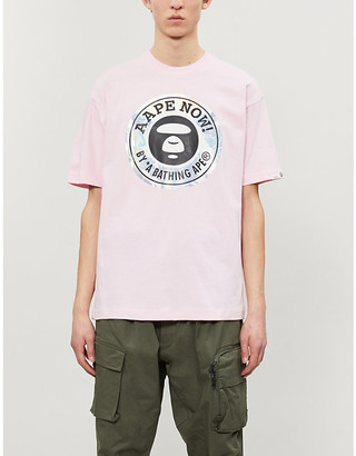 Aape Metallic logo-print cotton-jersey T-shirt