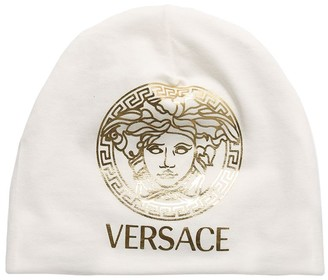 Versace Medusa Print Cotton Jersey Hat