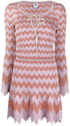 M Missoni Tie-Neck Lame Knit Dress