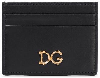 Dolce & Gabbana Logo leather card holder