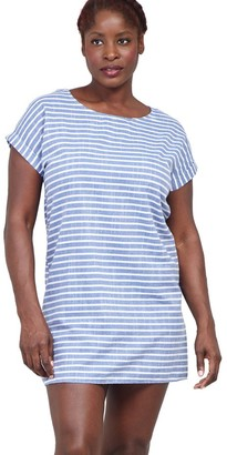 M&Co Izabel Curve striped t-shirt dress