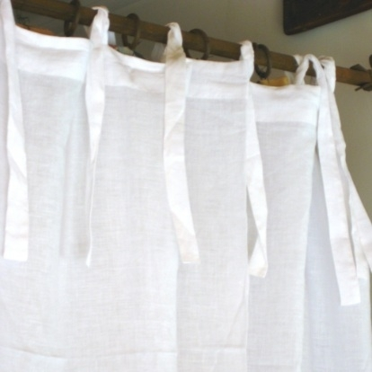 Pom Pom at Home Curtain Panel Tie Top Organic Linen