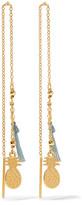 Chan Luu Tasseled Gold-plated Silver Earrings - One size