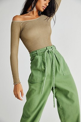 Free People Lights Down Rolled Straight Leg Pants