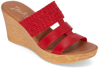 Italiana By Italian Shoemakers Womens Mandii Wedge Sandals