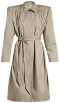 Balenciaga Exaggerated-shoulder twill trench coat