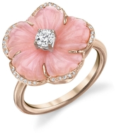 Irene Neuwirth Carved Flower Pink Opal Ring - Rose Gold