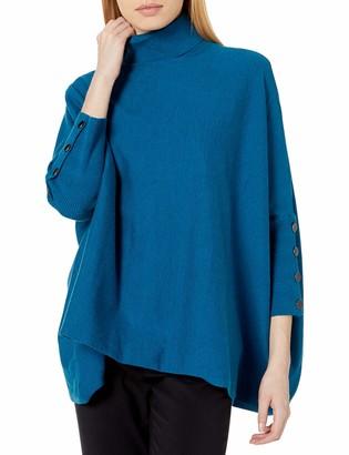 Anne Klein Women's Mock Neck Drop Shoulder Sweater