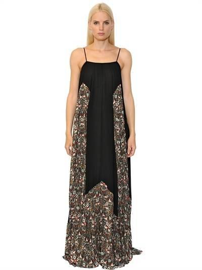 Veronique Branquinho Floral Printed Georgette Maxi Dress