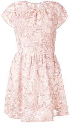 RED Valentino floral lace mini dress