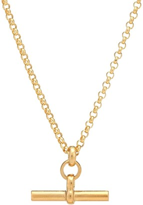 Tilly Sveaas Small T-Bar 23.5kt gold-plated necklace