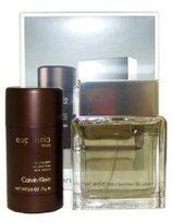 Calvin Klein Euphoria by for Men - 2 Pc Gift Set 3.4oz EDT Spray, 2.6oz Alcohol Free Deodorant Stick